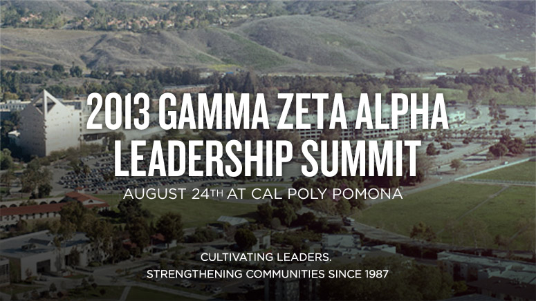 2013 Leadership Summit August 24th at Cal Poly Pomona
